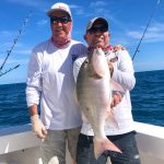 Josh and Dave with a Mutton Snapper | Captain J Fishing Charter | Tavernier & Islamorada